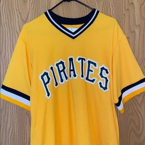 Majestic Pittsburgh pirates nameless retro jersey